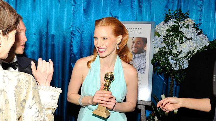 NBCUniversal Golden Globes Viewing And After Party - Red Carpet: Jessica Chastain