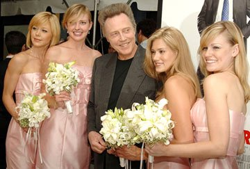 Christopher Walken and bridesmaids at the New York premiere of New Line Cinema's Wedding Crashers