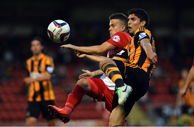 Soccer - Capital One Cup - Second Round - Leyton Orient v Hull City Tigers - Matchroom Stadium