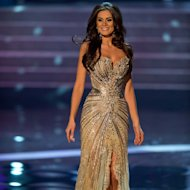 Miss Brazil, Gabriela Markus, competes in an evening gown of her choice as one of the top ten contestants during this year's LIVE NBC Telecast of the 2012 Miss Universe Competition at PH Live in Las Vegas, Nevada on December 19, 2012.HO/Miss Universe Organization L.P., LLLP