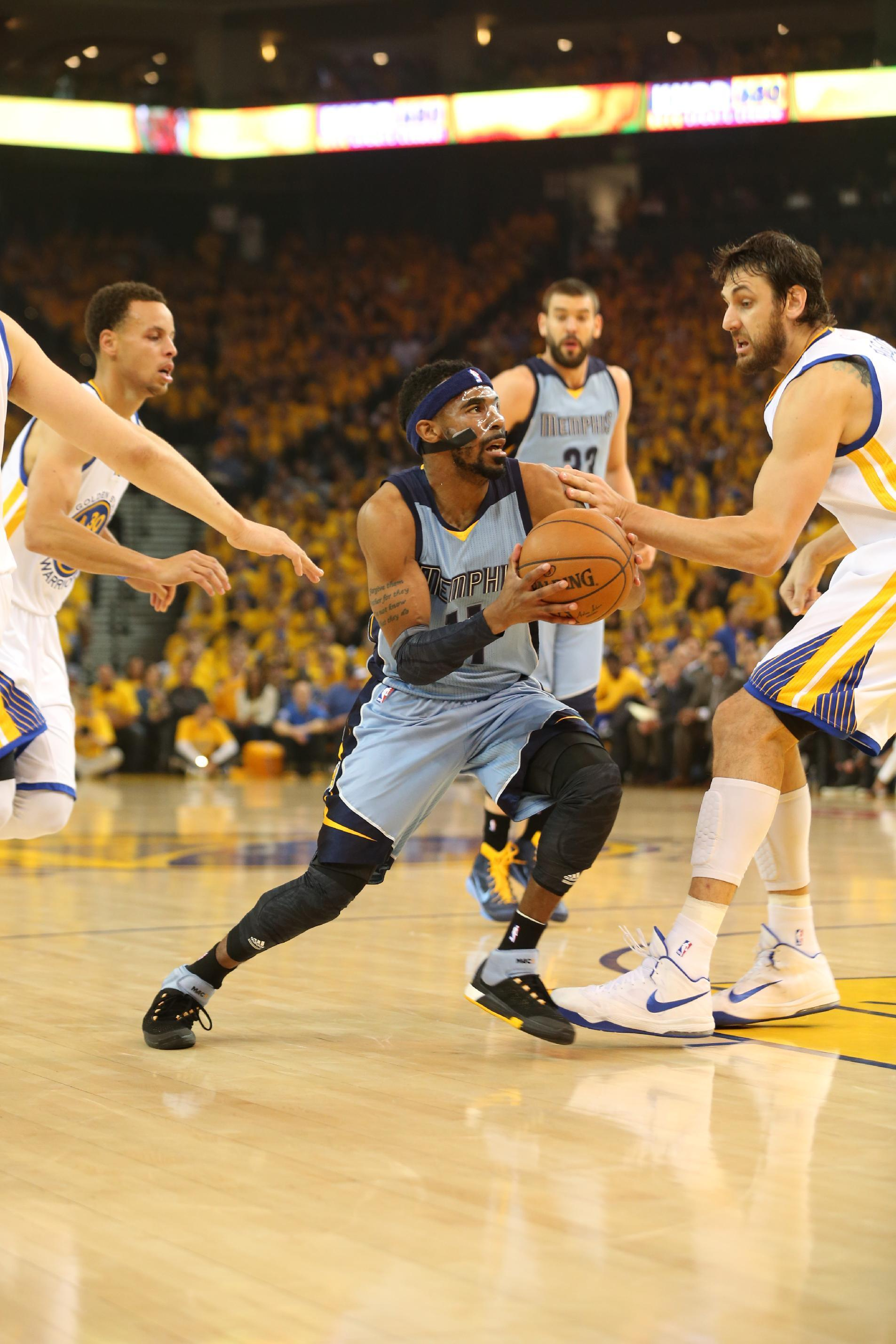 Grizzlies' Mike Conley starts in Game 2 vs Warriors