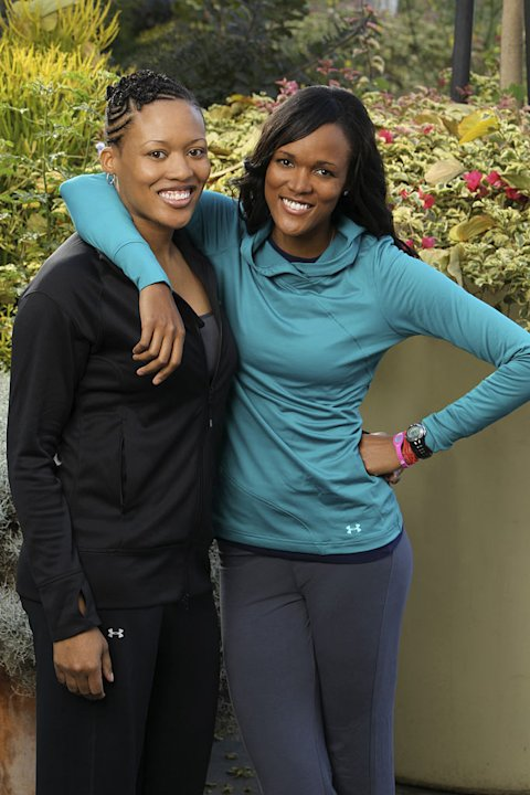 "Kisha and Jennifer Hoffman, Sisters, race around the world for a second chance to win one million dollars, on ""The Amazing Race: Unfinished Business."""