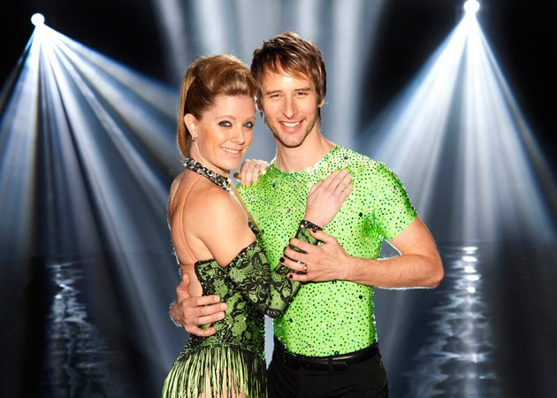 Chesney Hawkes has quit Dancing on Ice with an injury ITV Nicky Johnston