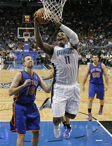 Anthony leads Knicks past reeling Magic 96-80