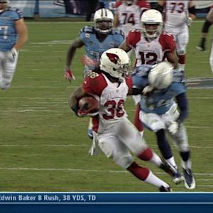 Arizona Cardinals running back Andre Ellington 38-yard catch and run