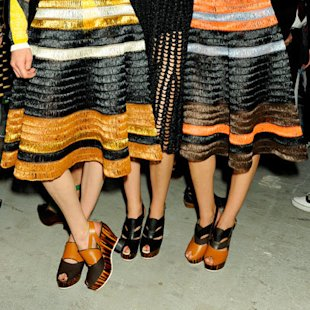 Proenza Schouler: Backstage: S/S12: Flatforms: Fashion Trend
