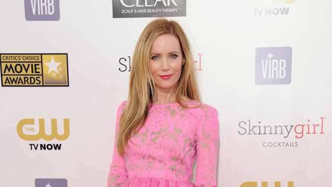 Leslie Mann arrives at the 18th Annual Critics' Choice Movie Awards at the Barker Hangar on Thursday, Jan. 10, 2013, in Santa Monica, Calif. (Photo by Jordan Strauss/Invision/AP)
