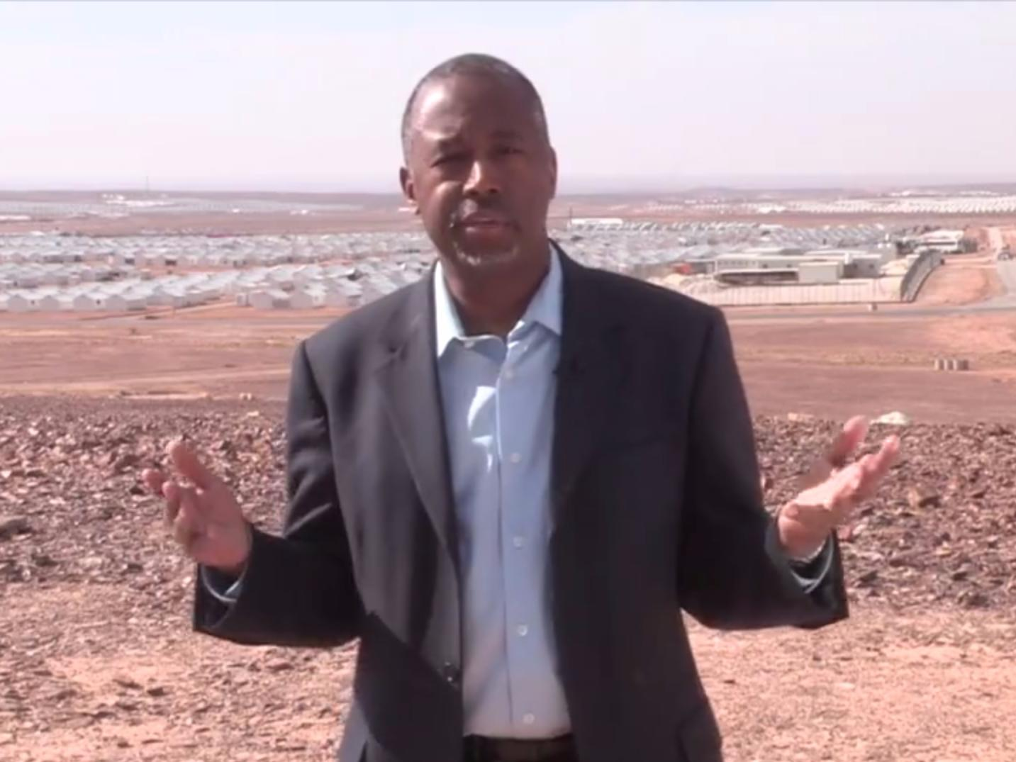 BEN CARSON: I just visited a Syrian refugee camp, and here's what I learned