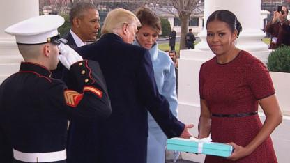 What's in the Box? Social Media Goes Wild Over Tiffany's Gift Melania Trump Gave Michelle Obama