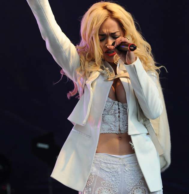Lovebox: Rita Ora has a nip slip moment. Copyright [Big]