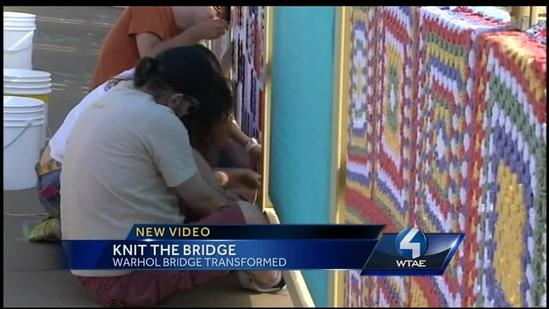 Andy Warhol Bridge getting 'yarn-bombed'
