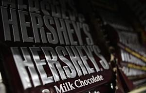 Hershey's candy bars are displayed at a gas station in Phoenix