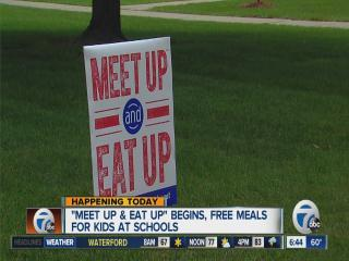 Free meals for kids throughout summer