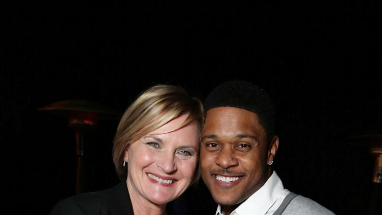 EXCLUSIVE CONTENT - PREMIUM RATES APPLY Denise Crosby and Pooch Hall seen at Showtime's Holiday Soiree, on Thursday, Dec. 5, 2013 in Los Angeles. (Photo by Eric Charbonneau/Invision for Showtime/AP Images)
