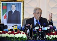 Algerian Interior Minister Daho Ould Kablia speaks during a press conference May 11, in Algiers. Algeria's Islamists were reeling Saturday from a stinging setback in legislative polls which saw the ruling party come out on top, resisting the Arab Spring's tide of democratic change