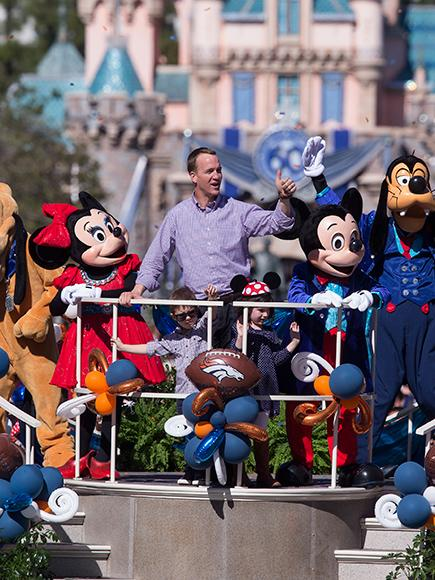 Peyton Manning Celebrates Super Bowl Win with His Children at Disneyland