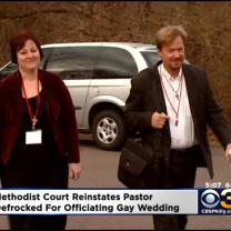 Methodist Pastor Who Officiated Gay Marriage Will Remain Ordained Minister