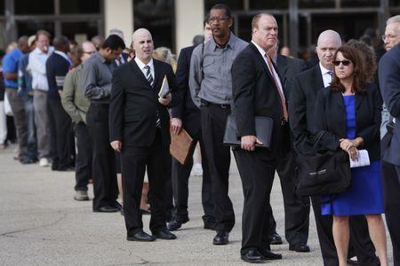 U.S. jobless claims fall; continuing claims lowest since 2000