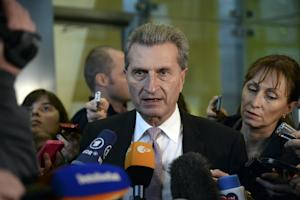 European Union Energy Commissioner Gunther Oettinger …