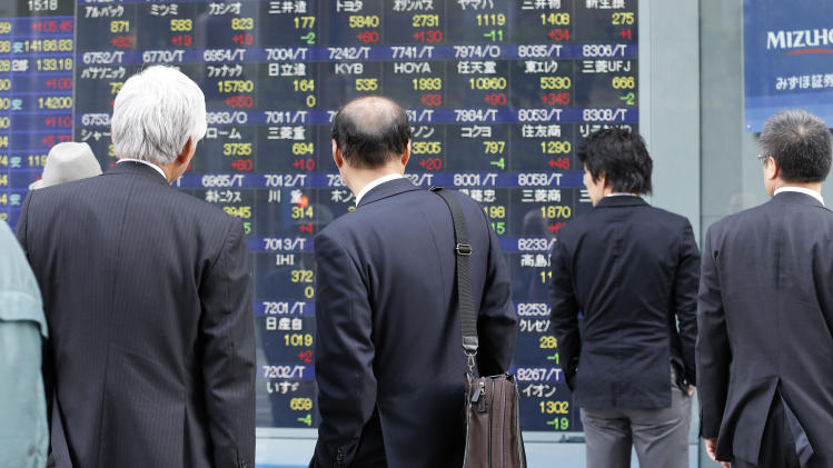 World stocks down after China inflation report