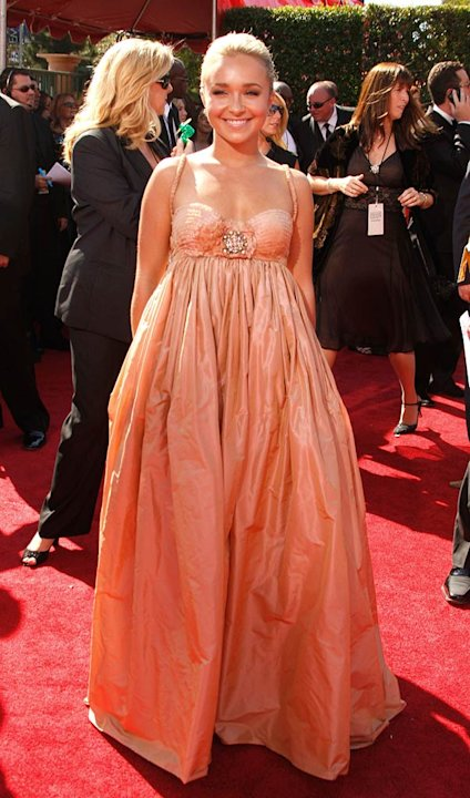 Hayden Panettiere arrives at the 59th Annual Primetime Emmy Awards at the Shrine Auditorium on September 16, 2007 in Los Angeles, California.