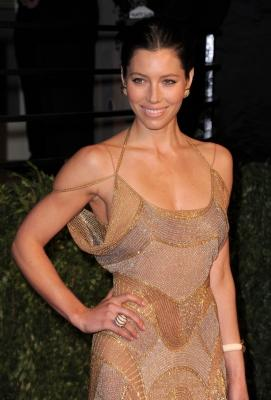 Jessica Biel shines at the Vanity Fair Oscar bash in Los Angeles on February 27, 2011 -- Getty Images