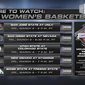Where To Watch MW Women's Basketball 3/6/15