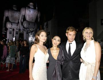Angelina Jolie , Bai Ling , Jude Law and Gwyneth Paltrow at the Hollywood premiere of Paramount Pictures' Sky Captain and the World of Tomorrow