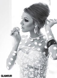 Blake Lively covers Glamour magazine's July issue in a 60s inspired polka dot look