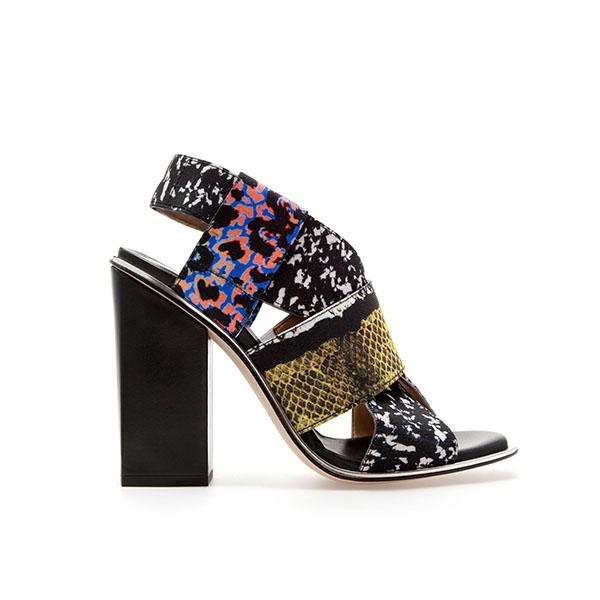 Stretch combination print sandal, $129 at zara.com