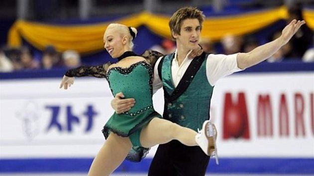 British Stacey Kemp (L) and David King perform in the Pairs Free Skating preliminary round program during the 2012 World Figure Skating Championships