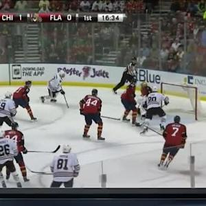 Roberto Luongo Save on Brent Seabrook (03:28/1st)