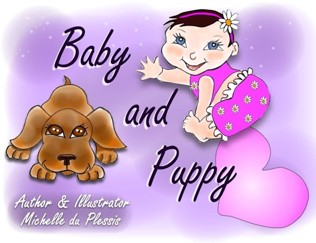 "BABE COMICS ""Baby And Puppy"""