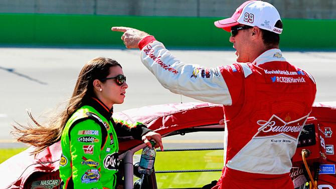 Danica Patrick: No to nude, happy with Harvick