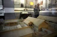 A model of the Ryukyu students' school in the ancient Imperial College is on display at the Imperial College in Beijing on October 10, 2012. The biggest of the Ryukyu Islands, which stretch for about 1,000 kilometres (620 miles) from Japan's mainland almost to Taiwan, Okinawa was the centre of the Ryukyuan kingdom, which pledged fealty to both Chinese emperors and Japanese feudal lords