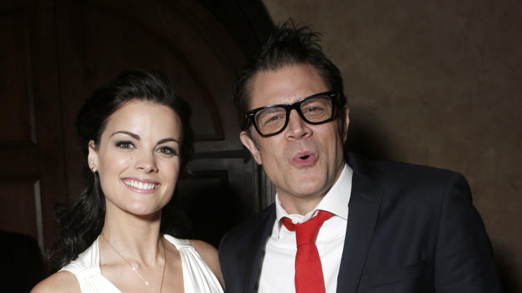 "Jaimie Alexander and Johnny Knoxville attend the after party for the LA premiere of ""The Last Stand"" at Grauman's Chinese Theatre on Monday, Jan. 14, 2013, in Los Angeles. (Photo by Todd Williamson/Invision/AP)"