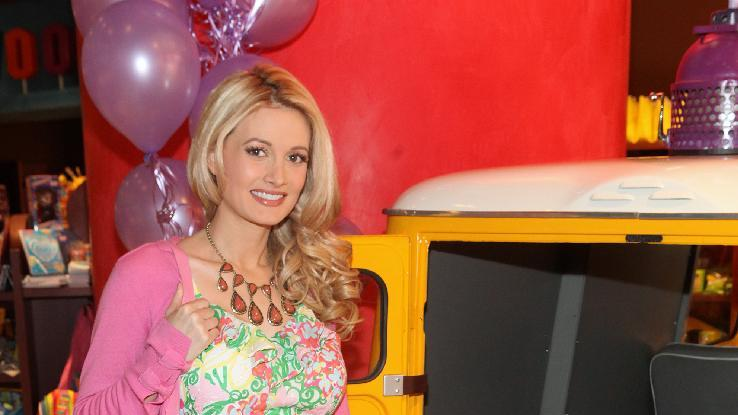 Holly Madison is seen at the new Wonka store at Sweet! Hollywood during the launch of the Wonka Inventing Room Collection, a decadent premium chocolate line, on Tuesday Nov. 13, 2012, in Los Angeles. (Photo by Casey Rodgers/Invision for WONKA/AP Images)