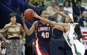 Notre Dame routs Liberty 74-43 in NCAA 1st round