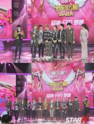 EXO-M wins 'The Most Popular Group Of The Year' in China