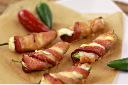 Bacon-Wrapped Jalapeno Poppers with an Apricot Glaze