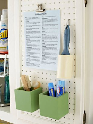 Add a Pegboard to Hang Useful Items