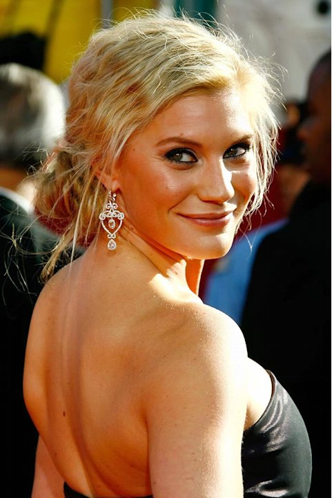 "Katee Sackhoff (""Battlestar Galactica"") on the red carpet at the 60th Annual Primetime Emmy Awards."