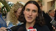 Olympic bronze medallist Tara Whitten said that a new indoor velodrome would allow her to train in Edmonton.
