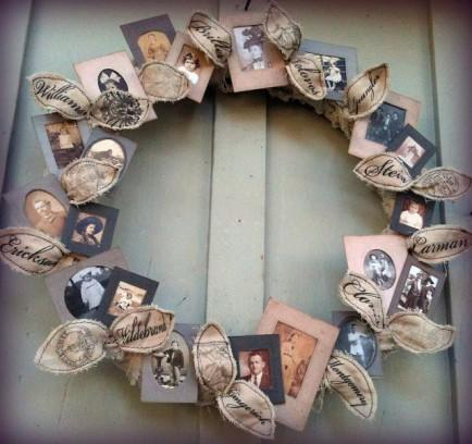 Family Tree Photo Wreath
