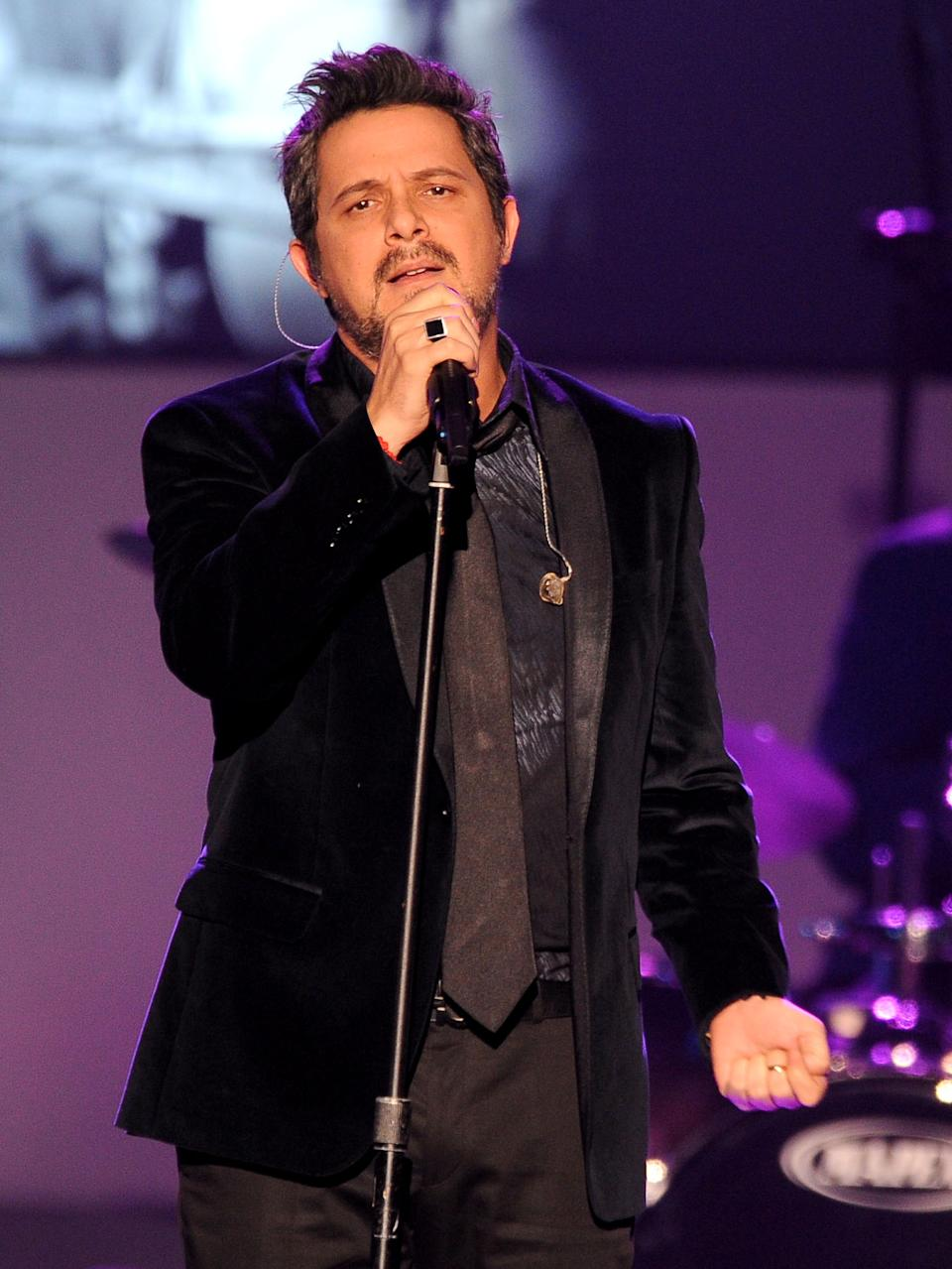 Alejandro Sanz performs at the 2012 Latin Recording Academy Person of the Year Tribute to Caetano Veloso at the MGM Grand Garden Arena on Wednesday, Nov. 14, 2012, in Las Vegas. (Photo by Powers Imagery/Invision/AP)