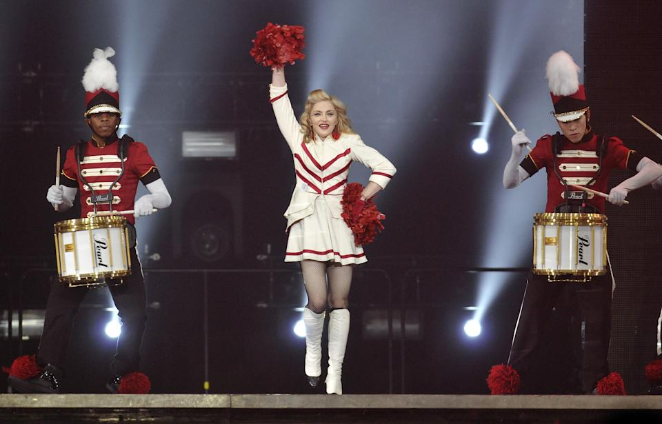 Singer Madonna performs at the Wells Fargo Center on Tuesday Aug. 28, 2012 in Philadelphia. (Photo by Evan Agostini/Invision/AP)