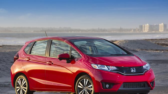 This undated photo provided by Honda shows the 2015 Honda Fit. Honda is recalling 12,000 Fit subcompacts to replace the steel front bumper beams so the cars are more crash-resistant. (AP Photo/Honda)