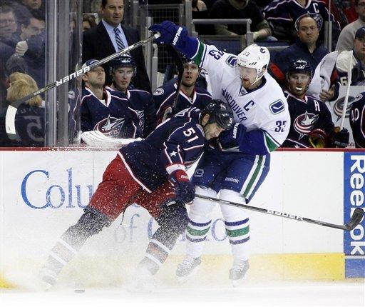 Blue Jackets beat Canucks 2-1 in shootout