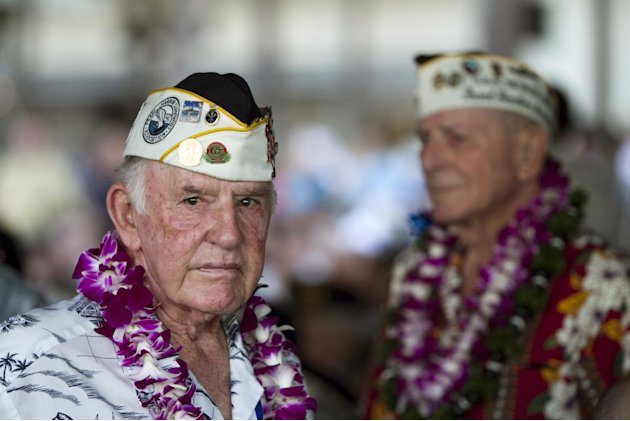 Pearl Harbor survivor Earl Smith is seen at the memorial ceremony, Wednesday, Dec. 7, 2011, in Pearl Harbor, Hawaii. Today marks the 70th anniversary of the surprise attack on Pearl Harbor Naval Base