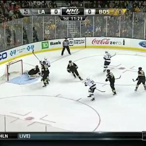 Tuukka Rask Save on Jeff Carter (08:38/1st)